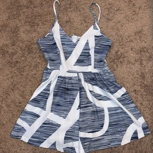ZAFUL Blue and White Romper - Size Small